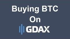 Buying BTC on GDAX