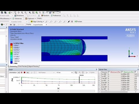 Viscoelasticity | ANSYS 19 1 Tutorial