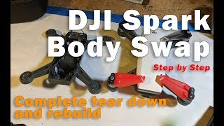 DJI Spark Repair: Complete disassembly and reassembly.