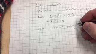 Polynomin järjestäminen