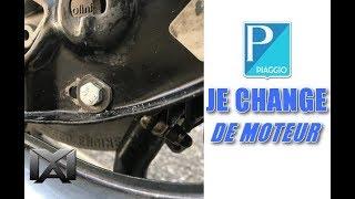 Changement de moteur pour la révision du polini 65 cc du piaggio ciao custom