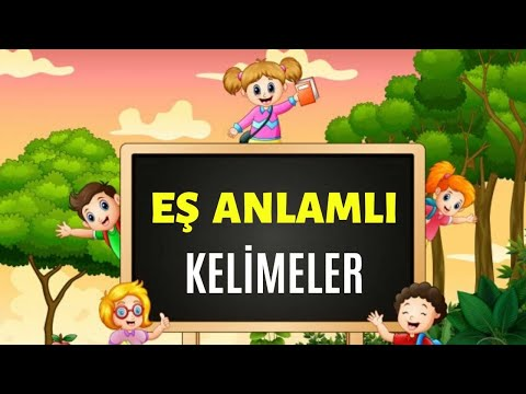 Es Anlamli Kelimeler Turkce Dersi Youtube