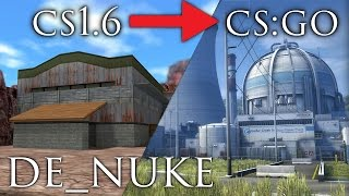 de_nuke - 1.6 to CS:GO - Map Development History #13