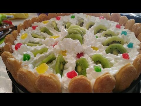Bakina kuhinja - prelepa voćna  torta koja se ne peče (fruit cake is not baked)