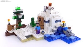LEGO Minecraft The Snow Hideout review! set 21120