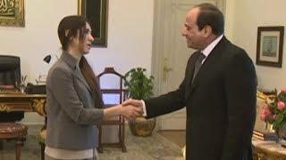 الرئيس السيسي يستقبل مواطنة عراقية أيزيدية بناء على طلبها