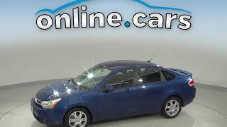 A10539CT Used 2009 Ford Focus SES FWD 4D Sedan Blue Test Drive, Review, For Sale