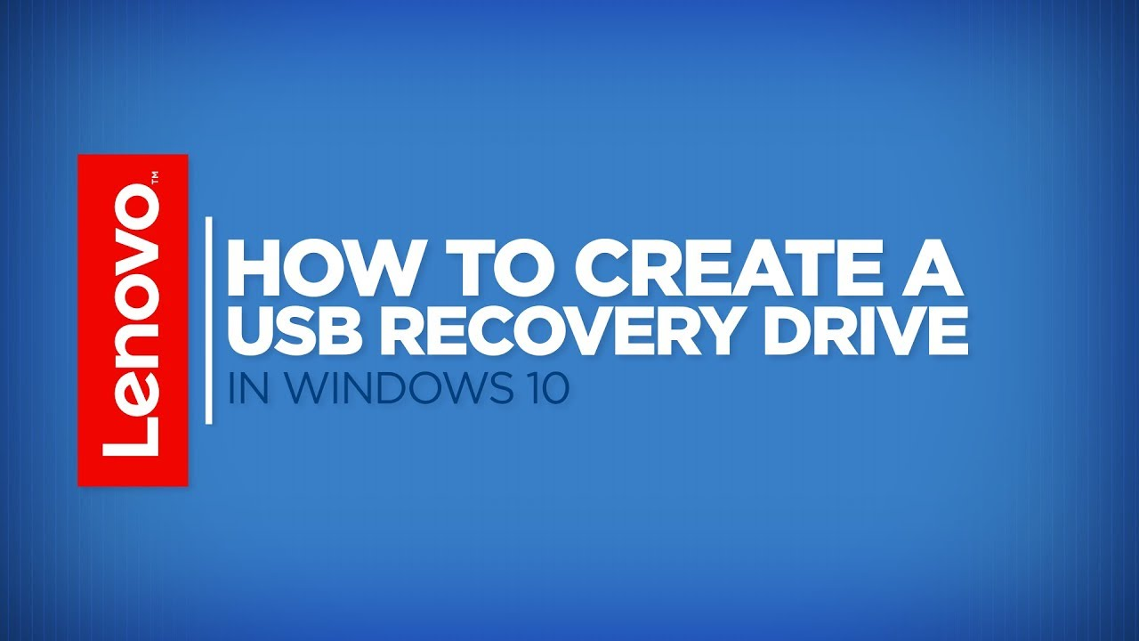 how to create windows 10 usb recovery