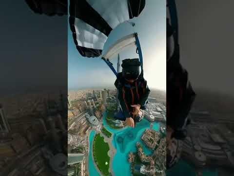 🛩️SkyDive Dubai – 360° View 🇦🇪   #shorts #skydivedubai #travelvlog
