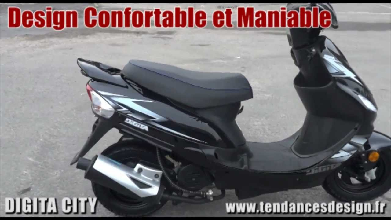 scooter 50cc digita city noir pas cher meilleur rapport qualit prix youtube. Black Bedroom Furniture Sets. Home Design Ideas