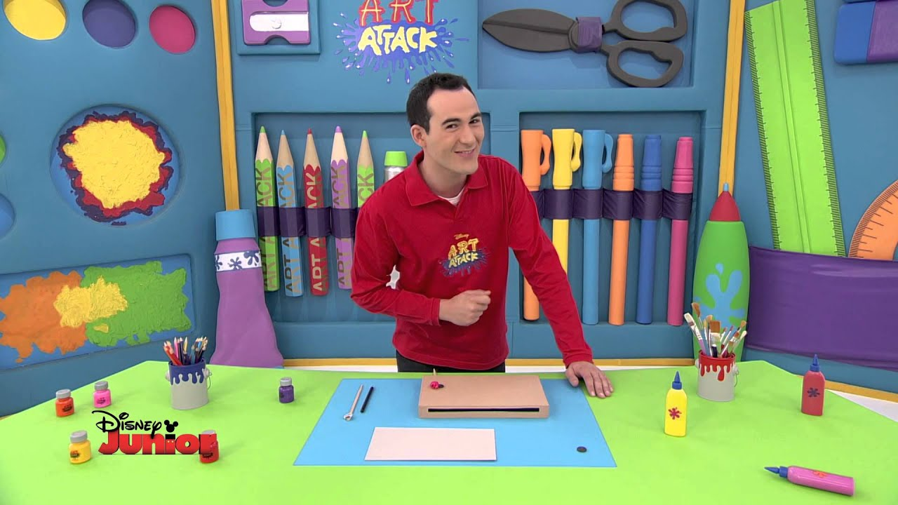 art attack technique du jeu des insectes disney junior vf youtube. Black Bedroom Furniture Sets. Home Design Ideas