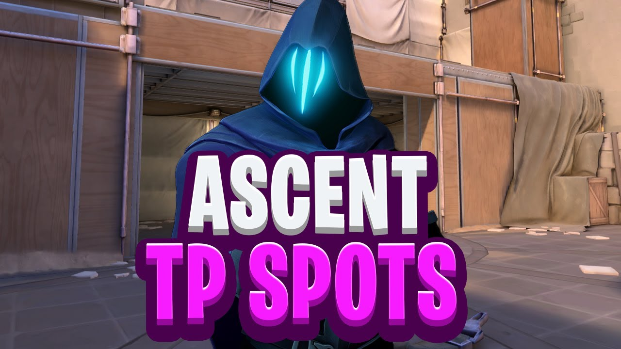 SNEAKY Omen Set-Ups and TP Spots on ASCENT - VALORANT GUIDE