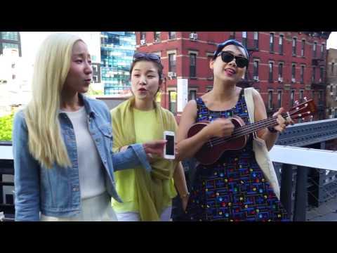 """바버렛츠 The Barberettes - """"Fairy Tale"""" Acoustic Live @ High Line Park, New York"""