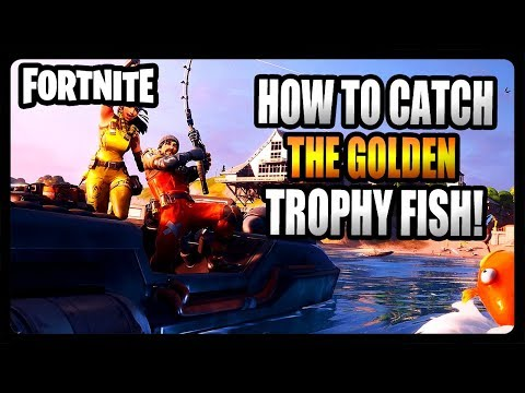 HOW TO CATCH THE GOLD TROPHY FISH IN FORTNITE CHAPTER 2! TIPS AND TRICKS GUIDE!