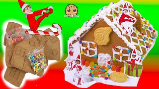 No Bake Elf Rainbow Candy Gingerbread House Cookie Swirl C