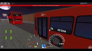 Roblox London Hackney & Limehouse bus Simulator East Lancs Esteem Dennis Dart GAL Route D6 Diversion