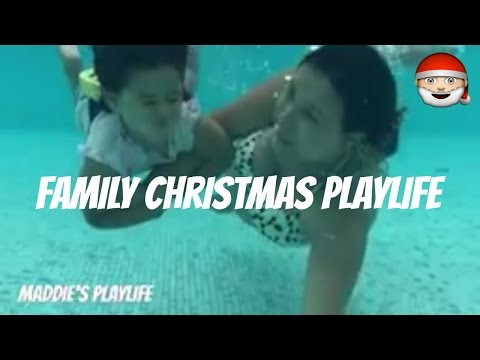 Family Christmas Holiday iPhone 7 Plus Underwater Action Dirty Santa Kris Kringle Maddie's PlayLife