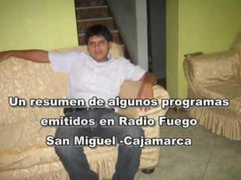 radio fuego  San Miguel Cajamarca   el dj Jorge Sachez