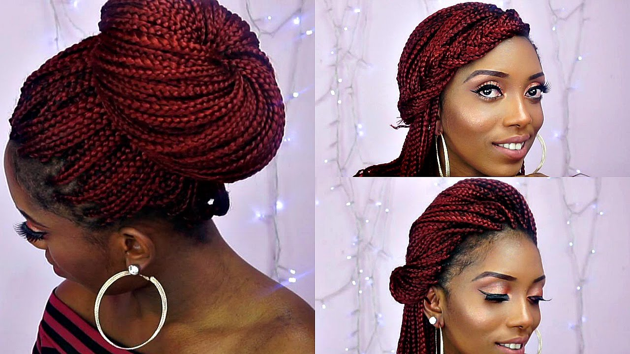 Braids Bunt How To Style Box Braids/6 Quick And Unique Styles - Youtube