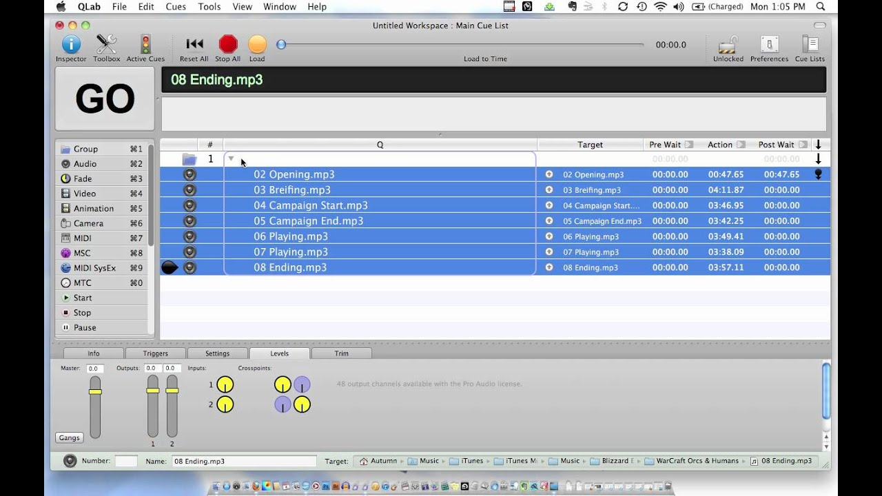 QLAB as iTunes Playlist Tutorial by GenericLABS