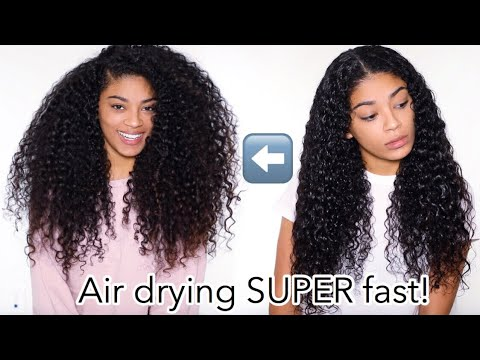 HOW I AIR DRY MY THICK CURLY HAIR FAST! | jasmeannnn