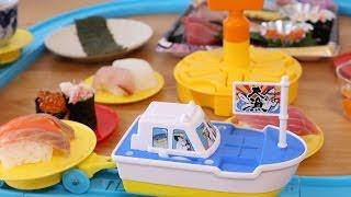 Sushi-go-round cooking toy 'Sakana-Kun to Ouchi de Kaiten Sushi'. Y...