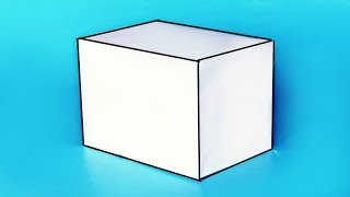 Как сделать объемный ПАРАЛЛЕЛЕПИПЕД из бумаги А4? /// Геометрические  фигуры своими руками