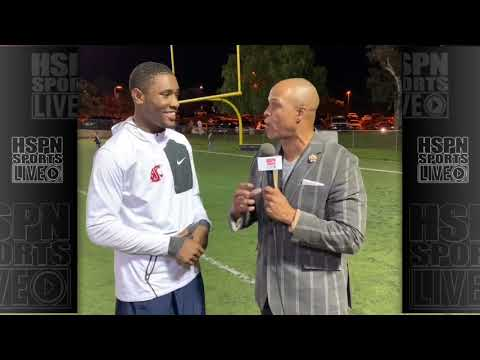 INTERVIEW - TREY BROWN SR TE LB LINFIELD CHRISTIAN - LIVE HIGH SCHOOL FOOTBALL BROADCAST