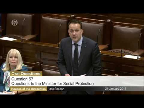 Tommy Broughan TD questioning the Minister for Social Protection on Pension Reforms