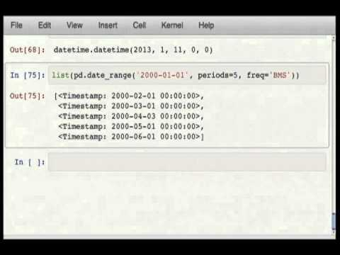Time Series Data Analysis with pandas