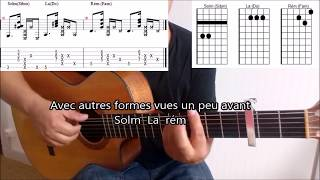 Sting et Maître Gims  Reste Tuto Guitare (Tabs)