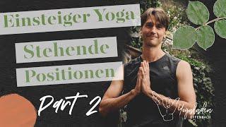 Yoga Einsteigerkurs Teil 3 | standfest im Krieger 1 & Stressmuskel | 45 Min | YLO Christopher