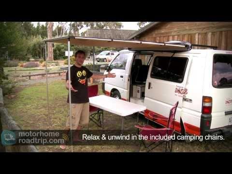 """""""Tassie Motor Shacks"""" Elite Van - Campervan Rental Tasmania."""