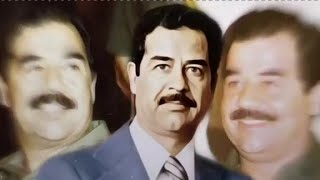 شوف وش سوا صدام في ولده عدي🔥😱✋ || مقاطع صدام حسين مع شيلات