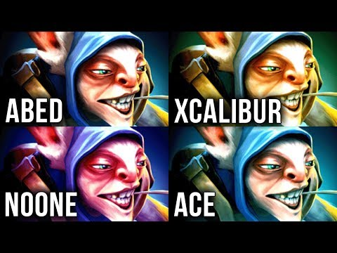 Who is the BEST Meepo in Dota 2?! - Abed vs Xcalibur vs Noone vs Ace - Choose your favourite! thumbnail