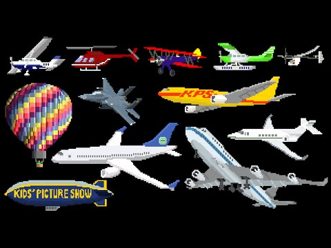 Aircraft - Airplanes / Aeroplanes & Air Vehicles - The Kids' Picture Show (Fun & Educational)