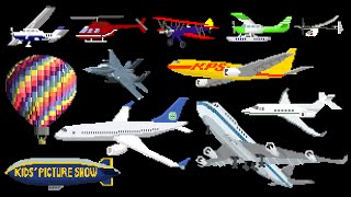 Aircraft - Airplanes / Aeroplanes & Air Vehicles - The Kids' Picture Show (Fun & Educational) thumbnail