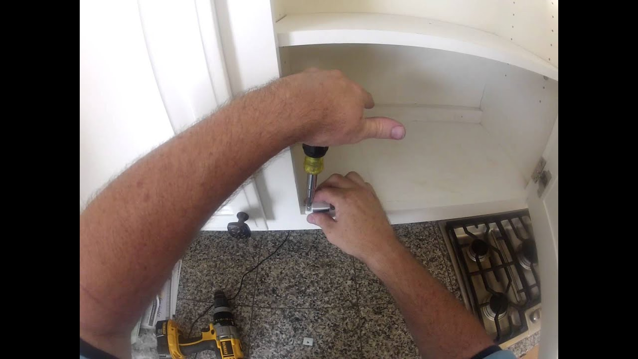 & Install cabinet magnet catch.MP4 - YouTube