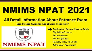 NMIMS NPAT 2021- Notification, Date, Application, Eligibility, Admit Card, Pattern, Syllabus, Result
