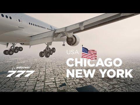 Prepar3Dv4 - B777-200 / Chicago → New York