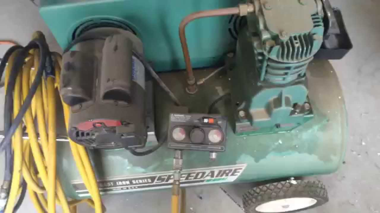 Dayton Electric Motor Wiring Diagram Speedaire 5f212 Air Compressor Youtube