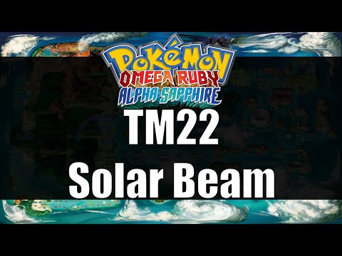 Where How To Find Tm 22 Solarbeam Pokemon Omega Ruby