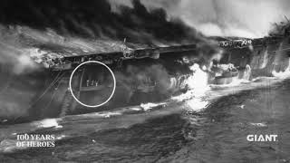 The bombing of the USS Franklin in World War II