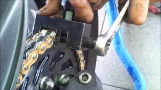 Kawasaki Z1000 chain and sprockets replacement