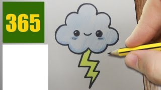 HOW TO DRAW A CLOUD CUTE, Easy step by step drawing lessons for kids