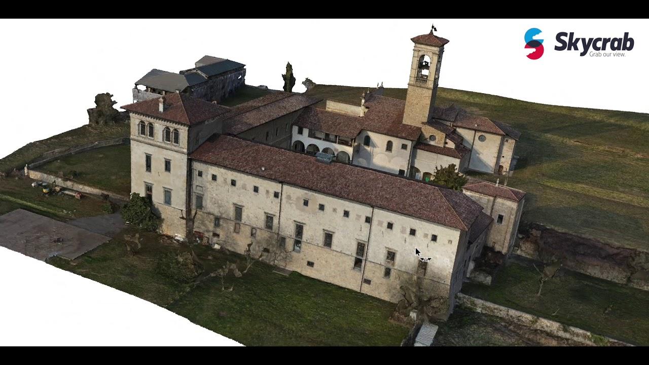 Modello 3d Virtuale Monastero Di Astino Bg Skycrab Youtube