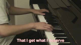 Linkin Park - New Divide  (Piano Cover) + Lyrics - Transformers