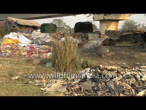 Filthy banks of River Yamuna in Delhi