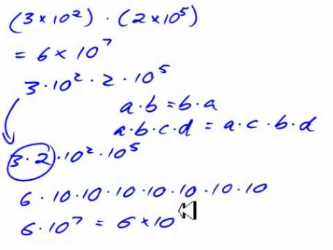 Multiplying and Dividing Numbers in Scientific Notation - YouTube