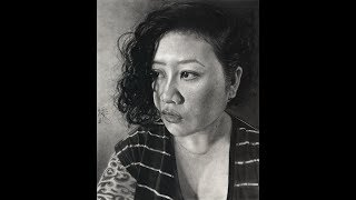 Charcoal Portrait Speed Drawing Time Lapse - Self Portrait, Realism, Realistic